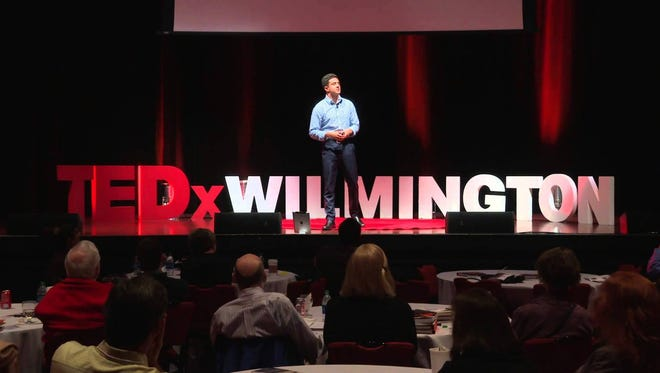 """Carvertise founder Mac Nagaswami talks about """"the golden domain name"""" at the 2015 TEDxWilmington conference."""