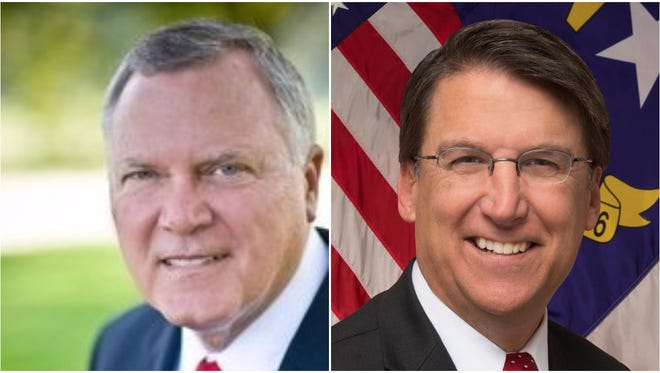 Georgia Gov. Nathan Deal, left, and N.C. Gov. Pat McCrory.