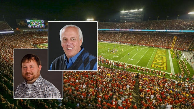 Cyclones columnist Randy Peterson (top) and Cyclones reporter Tommy Birch will be answering your football questions on Facebook Live on Wednesday.