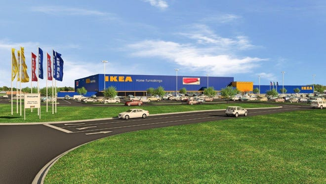 An IKEA store is set to open in fall 2017 southeast of I-69 and East 116th Street.