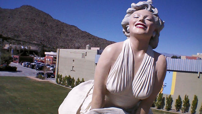 """The """"Forever Marilyn"""" statue was a fixture in downtown Palm Springs for about 22 months from from 2012 to 2014 as part of a loan arranged by the Sculpture Foundation, which owns the artwork.  The statue will return to town for permanent display once the new downtown park is completed."""