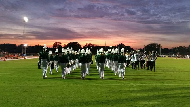 The Parkside High School band performs at sunset. The band, along with many others, will perform at the annual Delmarvacade event on Oct. 15, 2016.
