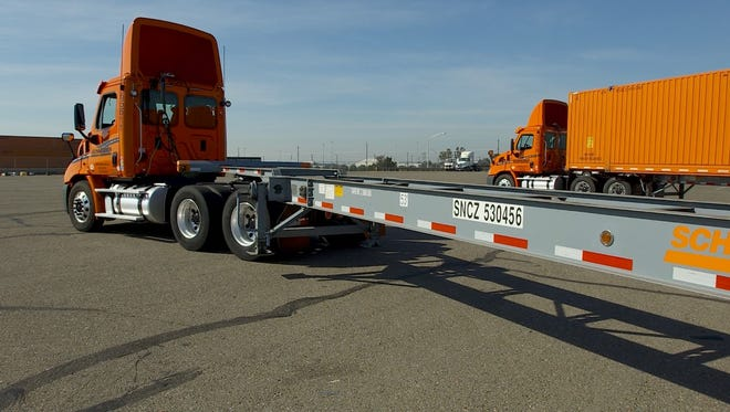 Green Bay trucking company Schneider National, which is planning a public stock sale, has been investing in container chassis to support its increasingly important intermodal business.