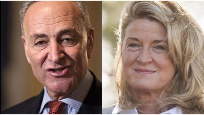 Incumbent Charles Schumer, left, Wendy Long and two third-party candidates are vying for U.S. Senate on Tuesday.