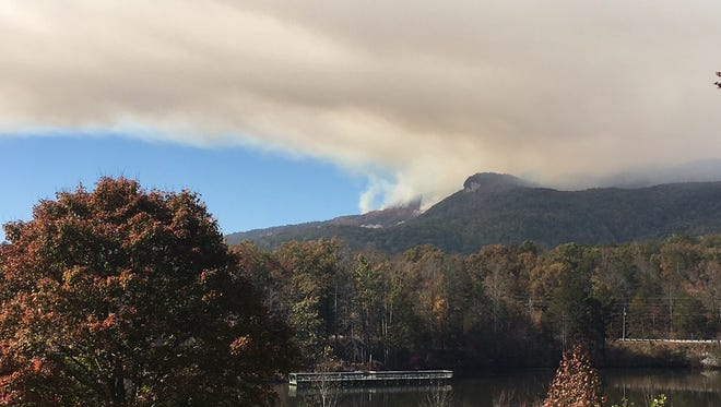 Fire crews battled a 10,000-acre forest fire that started atop Pinnacle Mountain in early November for nearly a month.