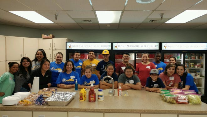 Students from Moody High School participating in the SERCO of Texas Community Youth Development Program recently cooked lunch and served the families staying at the Ronald McDonald House Charities of Corpus Christi.