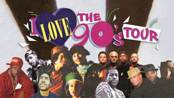 The I Love the 90s Tour will come to Knoxville on April 6.