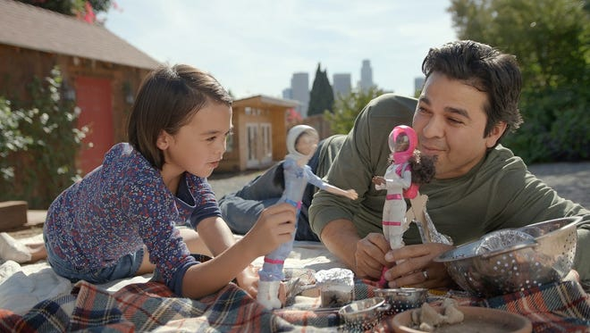 The maker of Barbie sent a clear message during the NFL playoff game Sunday night: Real men play with Barbie's.