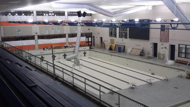 The swimming pool at William Penn Senior High has been used as a storage room for several years. (Photo: Jason Addy)