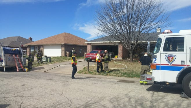 San Angelo fire fighters responded to a house fire on Wednesday at 3918 W. Beauregard