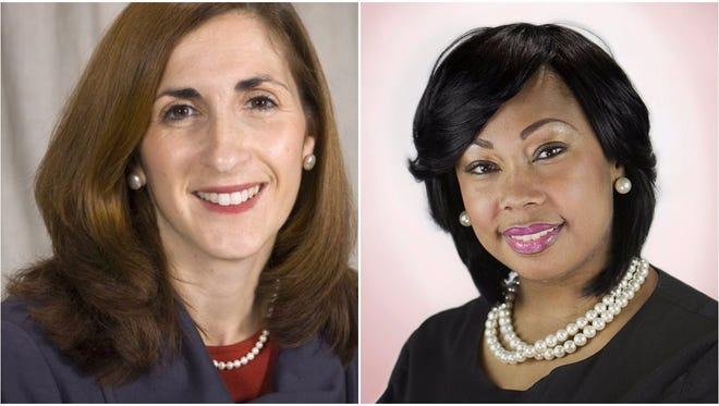 Catherine Cerulli, left, and Lashunda Leslie-Smith