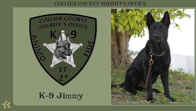 Jimmy, a retired CCSO K9, died Saturday following medical complications.