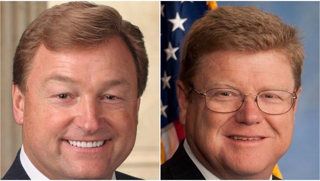 Sen. Dean Heller, left, and Rep. Mark Amodei