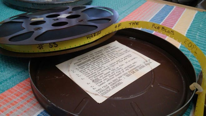 Footage shot on 16mm film, such as this educational film about San Ildefonso potter María Martinez, make up the bulk of the university's American Indian Film Gallery collection.