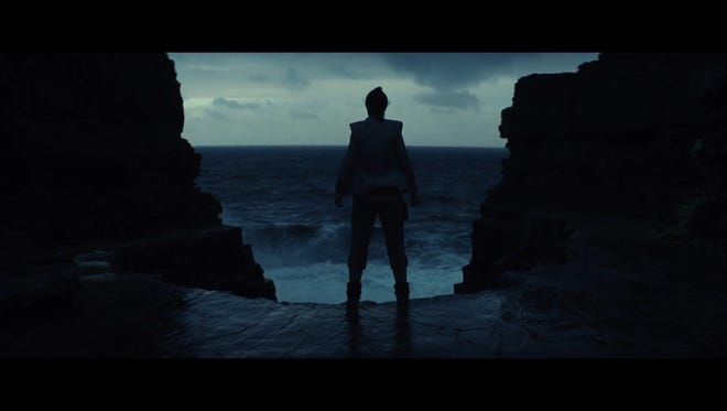"Still of Rey in ""The Last Jedi"" teaser"