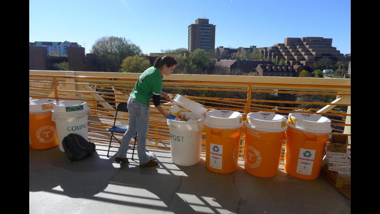 UT diverts 25 tons of waste from landfill in one football game