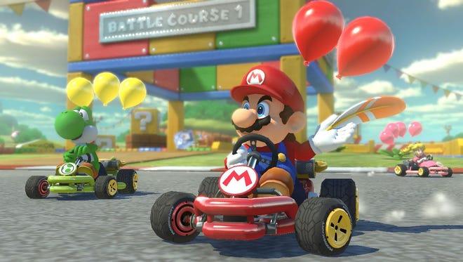 A scene from 'Mario Kart 8 Deluxe.'