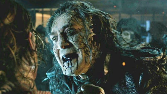 "Javier Bardem is a ghoul who drools in ""PIrates of the Caribbean: Dead Men Tell No Tales."""
