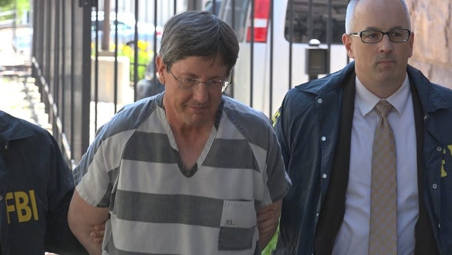 Lyle Jeffs arrives at the federal courthouse in Sioux Falls on Thursday.