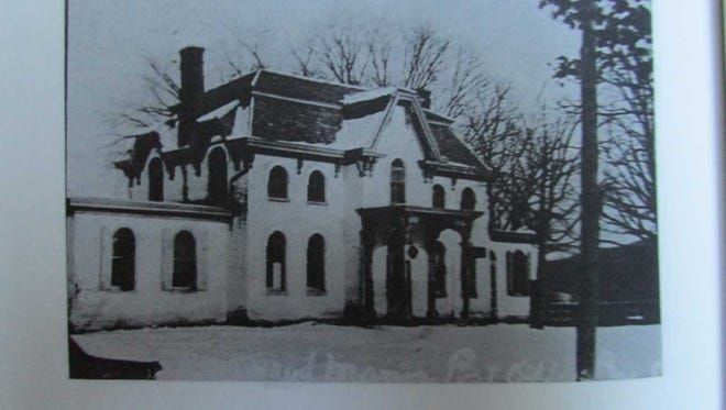 The Philip R. George Victorian Home in Ringwood is pictured when it was built in the mid-1860s.
