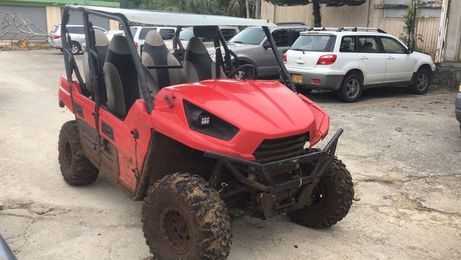 This all-terrain vehicle was confiscated after Department of Agriculture conservation officers arrested two men on June 25, 2017 on suspicion of illegal hunting.