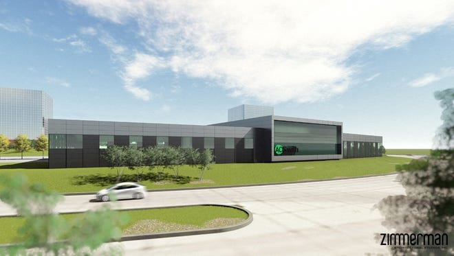 A.O. Smith Corp.'s proposed research center at Park Place business park is seeking city financing help.