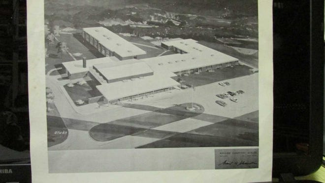 Architect Emil Schmidlin's drawing of the Wanaque School was on the cover of the school district brochure urging voters in 1969 to approve construction of the school.