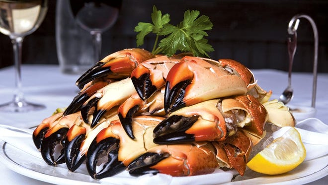 The Florida  stone crab at Tuluck's Seafood Steak & Crab House.
