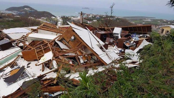 Former Avon resident Joshua Kikendall photographed the devastation caused by Hurricane Irma on the U.S. Virgin Islands.
