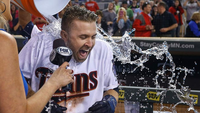 Brian Dozier has hit 150 home runs in six seasons with the Twins
