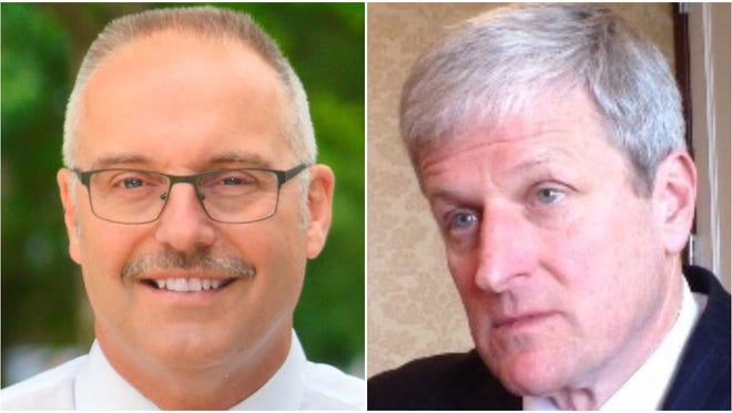 The 2017 candidates for Monroe County sheriff, Todd Baxter and Patrick O'Flynn.