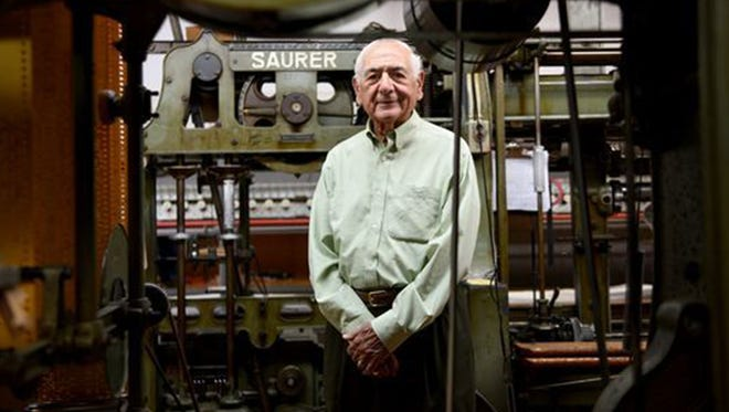 Ed Parseghian of Franklin Lakes has been in the embroidery business in North Jersey since the 1940s and founded his company, Deerbrook Fabrics of Guttenberg, in 1969. The company, which once employed 80 people, now has four employees and subsists on the mutual loyalty they share with Parseghian.