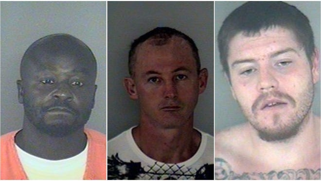 The Wakulla County Sheriff's Office is searching for Joel Teraill Cooper , Donald James Cotterman, and Casey Brandon Martina as of 4:20 a.m. Friday.