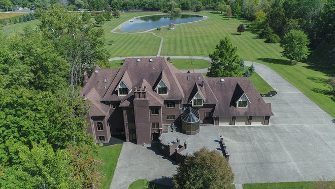 This 30-acre, gated property on Shaffer Road was once a bed and breakfast and a wedding venue. The home includes  approximately 30 acres of gated land, 15 bedrooms, 13 full bathrooms and two half-bathrooms. Inside, there is a library, dual stairways, glass chandeliers, a sauna and a solarium. Outside, there is a pond and a gazebo.
