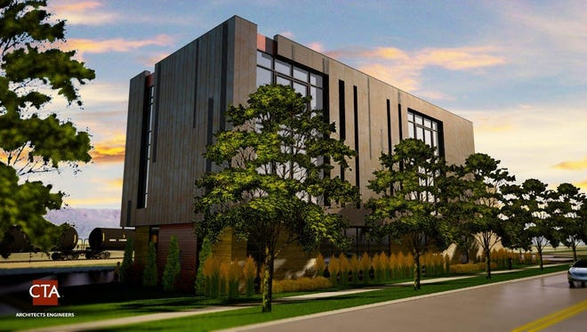 Construction on the new office building on River Drive is set for late December or early January.