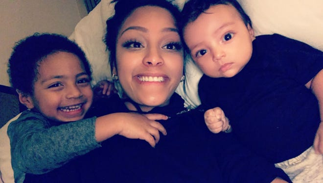 Raelynn Taylor of Lansing is fighting her ex-boyfriend, NBA's Bryn Forbes, for custody of their two sons, Carter, 4, and Leo, 1.
