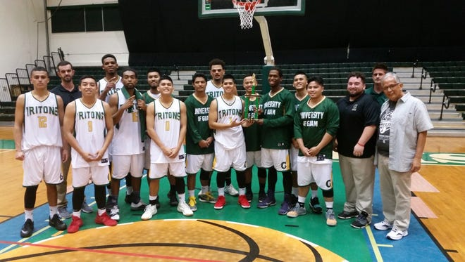 The University of Guam Men's Basketball Team defeated the KFC Bombers 101-96 on Dec. 10 at the UOG Calvo Field House to win the Triton Men's Basketball League Championship and go 20-0 for the fall semester.