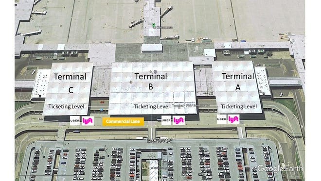 Starting March 1, Memphis International Airport will designate new pickup and dropoff locations for Uber and Lyft.