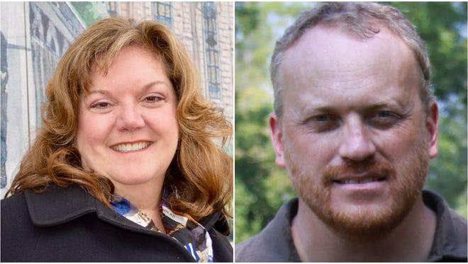 Sara Dunstone, left, and Daniel von Bargen are competing to represent Cedarburg's 1st aldermanic district.