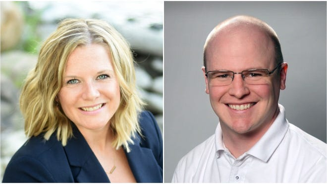 Kristin Burkart, left, and Ryan Hammetter are competing for Cedarburg's District 3 aldermanic seat.