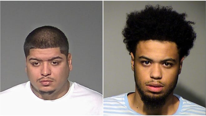 A heavily armed Marcelino Molla Jr. (left) led police on a wild chase before being arrested with 16.9 grams of cocaine and 14 grams of marijuana. Dale Rahiem Clayton (right) was arrested in West Allis where police found him with 167 grams of marijuana and $6,262. Both are charged with drug dealing.