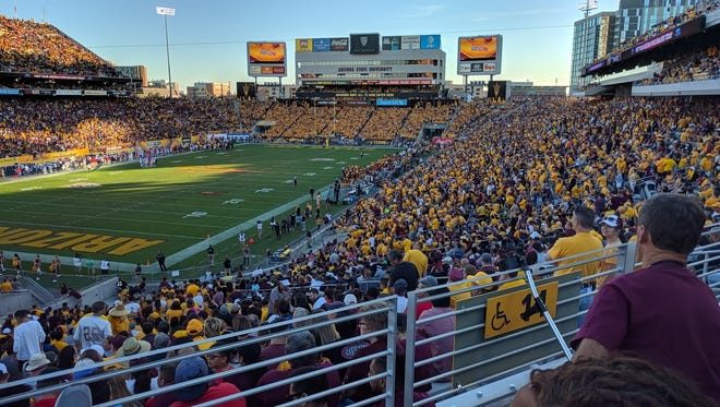 A view of the south end student section during the Arizona State game against Arizona in 2017.