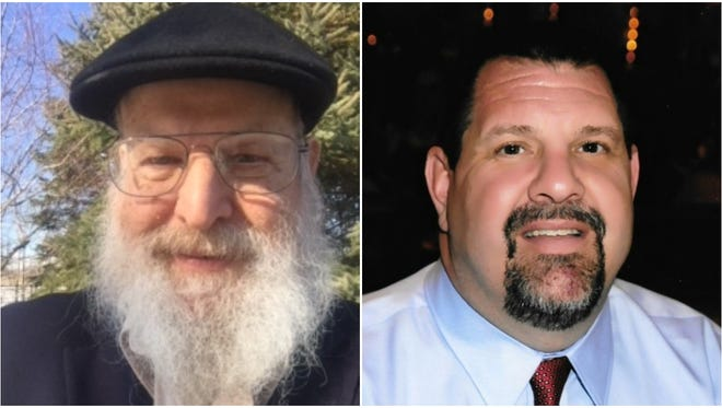 Lewis Chamoy )left) and Brian Schneider are running to represent Mequon's Sixth Aldermanic District in the April 3 election.