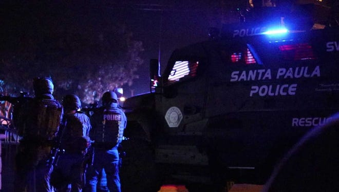 Santa Paula Police Department SWAT team members made an early morning arrest Friday related to a shooting last month.
