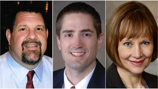 Pictured from left are Brian Schneider, Andrew Nerbun and Kathleen Schneider.