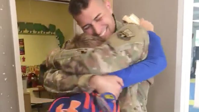 Air Force Technical Sergeant Andre Tetrault had been deployed in Kuwait for over six months