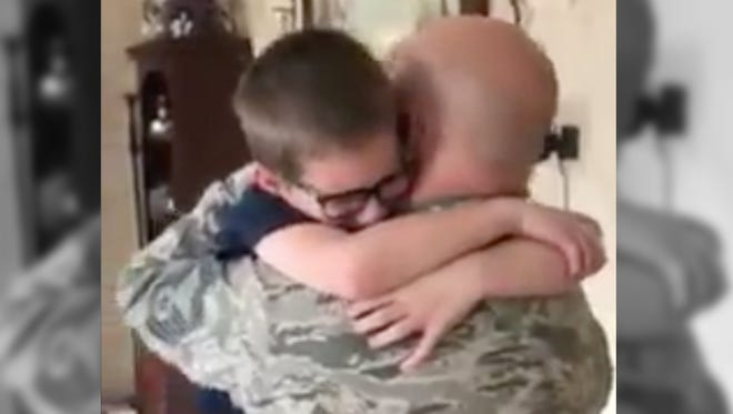 Ronin is heartbroken that his dad won't be home from deployment for his birthday. But dad would never, ever miss his little guy's birthday.