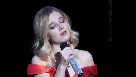 Singer Jackie Evancho performs June 2 at the Admiral