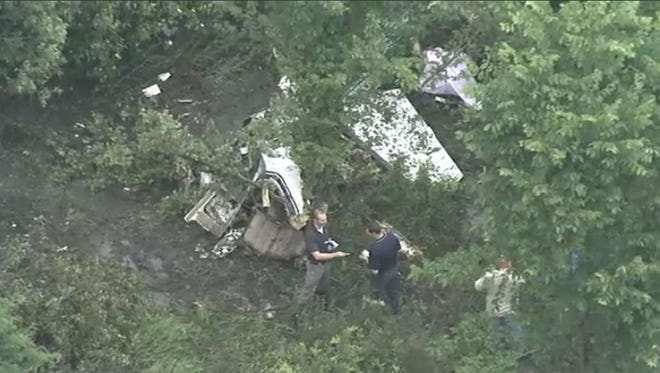 Two people died when a small plane crashed in a rural section of Springfield Township on Wednesday, June 13, 2018, officials have confirmed. 