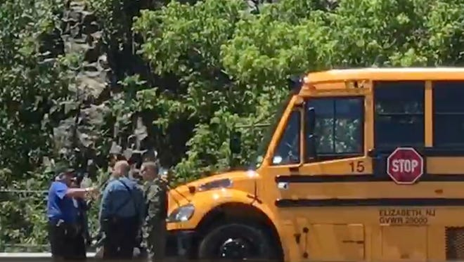 A school bus accident on Route 287 near exit 55 in Wanaque on June 21, 2018.